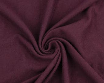 100% Cotton French Terry Fabric by the yard Burgundy (295)