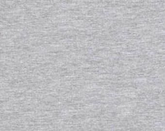 Cotton Lycra Spandex Knit Jersey Fabric 12 oz Heavy - by the yard - Heather Gray  (349)