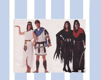 ON SALE Cleopatra and Mark Anthony Costume Pattern McCalls 4585 1980s Couples Costumes Allura & SkulLtar LARP Halloween Theatre Bust/Chest 3