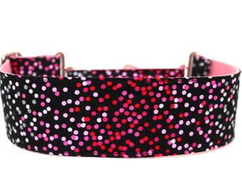 "Valentines Day Dog Collar 2"" wide Martingale Dog Collar for Large Breed Dogs Pink Dog Collar Ombre Dog Collar"