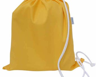 Kids PE Bag, Shoe Bag, Drawstring Bag - Yellow