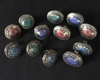 Lot of 12 Kuchi Tribal Carved Large RINGS KR12 Theater Opera Dance Costume Jewelry Uber Kuchi®