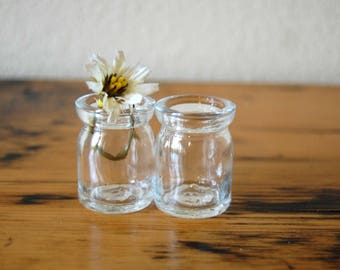 Vintage Individual Creamers Set of 2 Vintage Miniature Restaurant Clear Glass Creamers Vintage Small Creamer from The Eclectic Interior