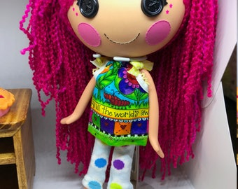 Handmade Pant Set for Lalaloopsy Doll // Full Size Big Sister // Doll Clothes // Stocking Stuffer // Under 10 // For Girls // Pillowcase