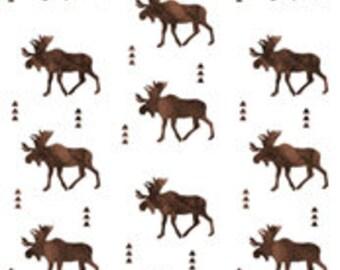 Pillow Cover - Brown Watercolor Moose