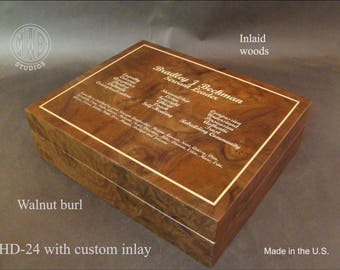 Handcrafted Custom Humidor HD24 with free shipping.