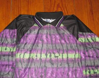 Rare Vintage 1990s Rave Hip Hop Neon Soccer Goalie Jersey