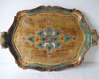 Vintage Florentine Tray