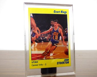 1990s John Stockton Basketball Card Court Kings Utah Jazz Basketball Star Co.