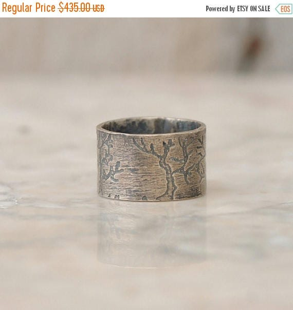 ON SALE Mens Wedding Band - Tree Ring - Tree of Life - Silver Tree Ring - Tree Ring Man Wedding Band - Mens Rings