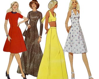 Vintage RETRO Creative Patterns 1970's Instructional Sewing Booklet and Pattern: Sundresses, Halter, Maxi Skirt