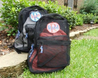 Boys BackpackMonogram Mesh Backpack Monogram Kids Applique