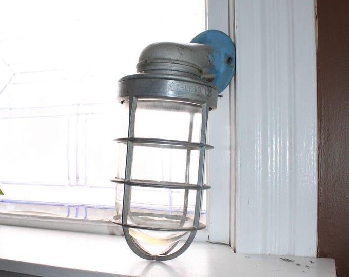Vintage 50s Industrial Lighting Appleton Wall Mount Light Steampunk