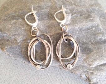 Silver Earrings - Multi-Hoop Silver Earrings - Artisan Jewellery - Earrings
