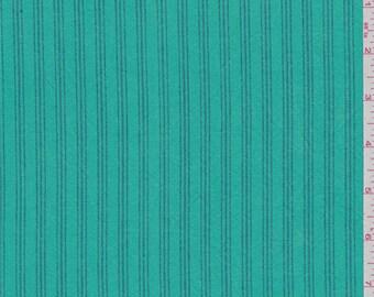 Aqua Green Stripe Ticking Fabric By The Yard
