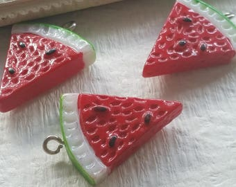 25 x 29  mm Resin Water melon Charms of Assorted Colors (.gg)