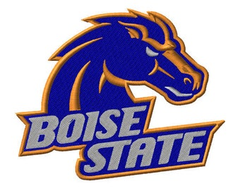 Boise State Embroidered Iron On Patch