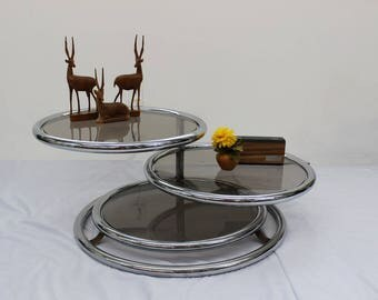 Mid Century Modern chrome and glass coffee table | Gre-Stuff