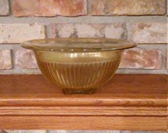Vintage Federal Amber Glass Mixing Bowl