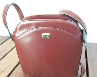 15%OFF VACATION SALE Vintage Genuine Bally Tan Leather Shoulder Bag Shopping bag Made in Italy