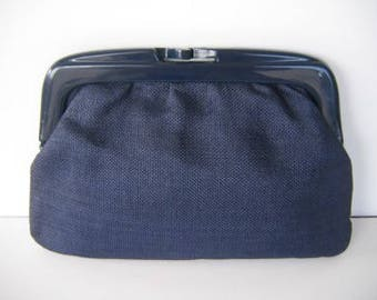 Navy Blue Summer Clutch +++++ Vegan & Vintage