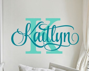 Personalized Wall Decal   Girl Name Wall Decal   Nursery Wall Decal    Personalized Name Decal