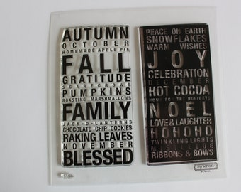 Acrylic Stamps, stamps, Close to my Heart, My Acrylix, Poster Tidings