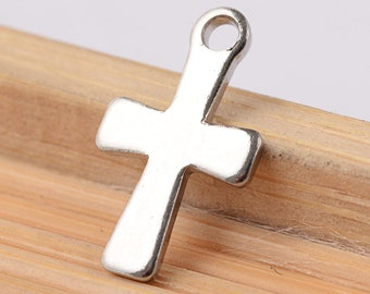 Stainless Steel cross charms - stainless steel charms - Stainless steel crosses charms - 12mm x 7mm (2046) - Flat rate shipping