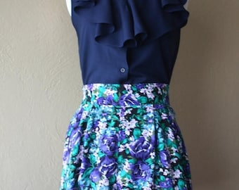 Clearance Sale Vintage Floral Print High Waisted Shorts