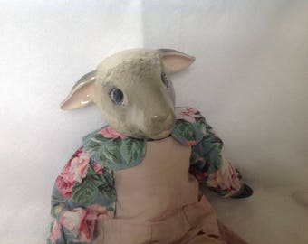 Bisque Sheep Doll Kit/Completed Handmade Lamb Kit, Shirley Sheep Doll