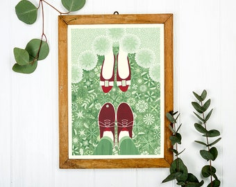 Wedding / Engagement Art Print A3 - Inspired by Lithuania Series