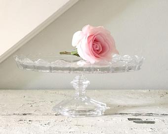 Vintage Cake Stand Glass Crystal