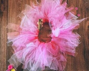 Tutu Baby Skirt, Girl Tutu Skirt, Pink Tutu Baby, Pink Tutu for Girls, Newborn TUTU Skirt, Tulle Skirt, Baby Photo Prop, Christmas Baby Gift