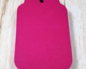 Hot Pink Scalloped large tags, Die Cut, Embellishment, Gift Tag, Party Favor Tag,Wish tree