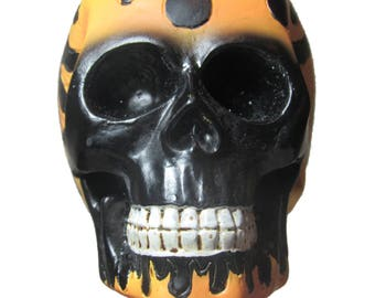 New flamed skull shift knob lever handle Very cool made with universal fit ready to go