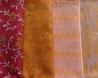 Fat Quarters, Silk Fabric, Sari Silk, FQ 7