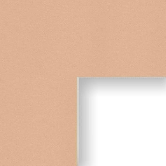 11x14 Inch Mat 8x10 Inch Single Opening Image Light Brown