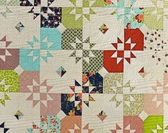 """MSQC - Disappearing Hourglass - Quilt Pattern - Layer Cake (10"""" Squares) Friendly by Missouri Star Quilt Company, MSQC177"""