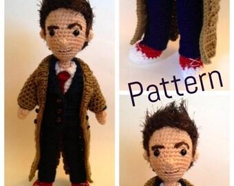 Tenth Doctor Who Amigurumi Crochet doll Pattern