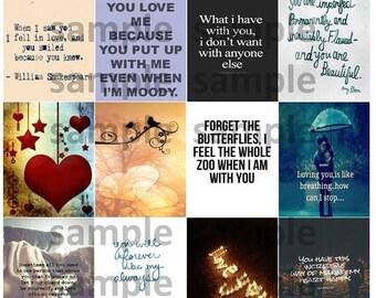 Love, #2-1, Quotes, Planner Stickers, Inspiration, Butterflies, Life, Hearts, Birds, Happy, ECLP, Plum Paper Planner, Happy Planner