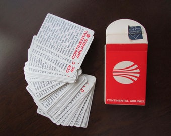 Continental Airlines Playing Cards c. 1965-80s Advertising Promotion Printed by US Playing Card Co