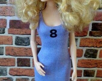 Tank Dress for Barbie, Petite Barbie or similar fashion doll