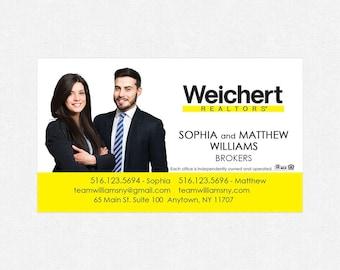 "Weichert business card magnets - 2""x3.5""- FREE UPS ground shipping"