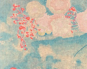 Nani Iro Japanese fabric KOMOREBI in brushed cotton - 1/2 YD