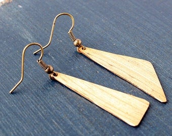 Asymmetric Triangle Drum Cymbal Earrings