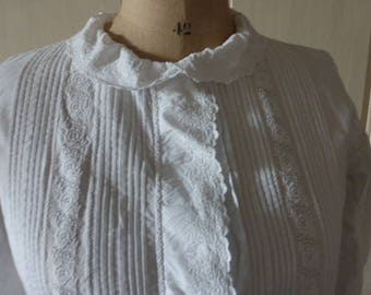 Late Victorian, Edwardian French Chemise,  Blouse ,Shirt,  French  Circa 1900 ish
