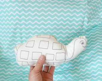 MiniCoccola a forma di Tartaruga-Stuffed tortoise animal-cotton tortoise toy-Baby gift box-gift for baby girl or baby boy-tortoise plush