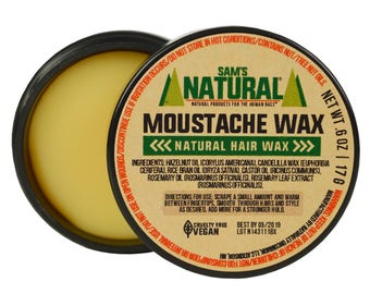 Sam's Natural - Moustache Wax - Gifts - Natural, Vegan + Cruelty-Free