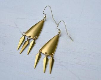 Brass Fringe Earrings // Brass //