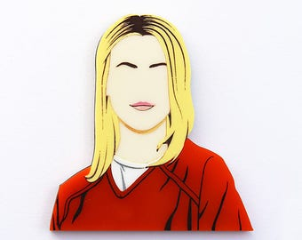 Orange Is The New Black Piper Chapman layered laser cut acrylic brooch OITNB